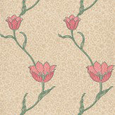 Morris Garden Tulip Neutral / Red Wallpaper - Product code: 210391