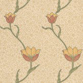 Morris Garden Tulip Orange / Neutral Wallpaper - Product code: 210392