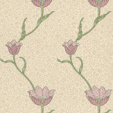 Morris Garden Tulip Red / Neutral Wallpaper - Product code: 210393