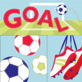 Arthouse Goal Set of 3 canvases Art