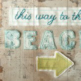 Arthouse This way to the beach wooden plaque Art