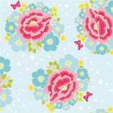 Coordonne Big Rose Blue Wallpaper