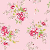 Coordonne Winter Poppies Pink Wallpaper