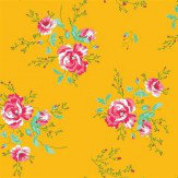 Coordonne Winter Poppies Yellow Wallpaper