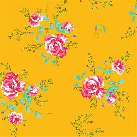 Coordonne Winter Poppies Yellow Wallpaper main image
