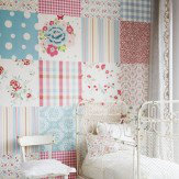 Coordonne Mural Patchwork Girls Wallpaper
