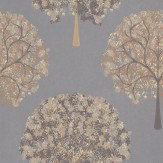 Prestigious Impressions Truffle Gold / Maroon / Grey Wallpaper - Product code: 1944/499