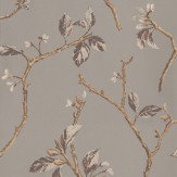 Prestigious Shade Cognac Red / Cream / Grey Wallpaper