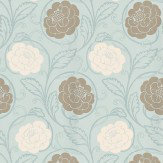 Thibaut Morristown Aqua Wallpaper