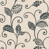 Thibaut Waterbury Trail Cream / Black Wallpaper
