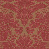 Thibaut Taddington Red / Metallic Gold Wallpaper - Product code: 839-T-7616