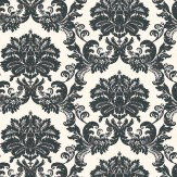 Thibaut Symphony Damask  Black / Cream Wallpaper - Product code: 839-T-7637