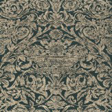 Thibaut Cadiz Silver / Black Wallpaper