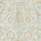 Thibaut Medici Blue / Silver Wallpaper