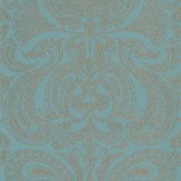 Cole & Son Malabar Turquoise / Gold Wallpaper - Product code: 66/1001