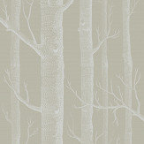 Cole & Son Woods Taupe / White Wallpaper