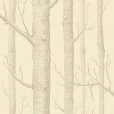 Cole & Son Woods Taupe / Cream Wallpaper