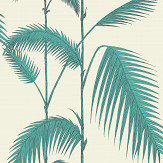 Cole & Son Palm Leaves Blue Green / Off White Wallpaper