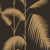 Cole & Son Palm Leaves Beige / Black Wallpaper - Product code: 66/2014