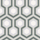 Cole & Son Hicks' Hexagon Grey / Lilac Wallpaper - Product code: 66/8055