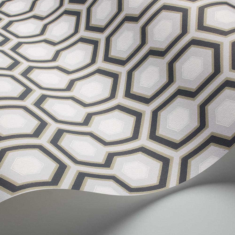 Hicks' Hexagon Wallpaper - Grey / Lilac - by Cole & Son