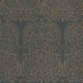 Cole & Son Alpana Gold / Black Wallpaper - Product code: 69/2105