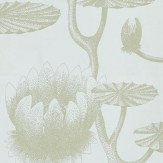 Cole & Son Lily Green / Sky Blue Wallpaper