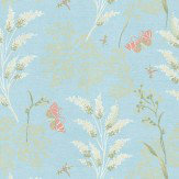 Thibaut Butterfly Garden Blue Wallpaper