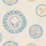 Sanderson Clarice Blue / Cream Wallpaper
