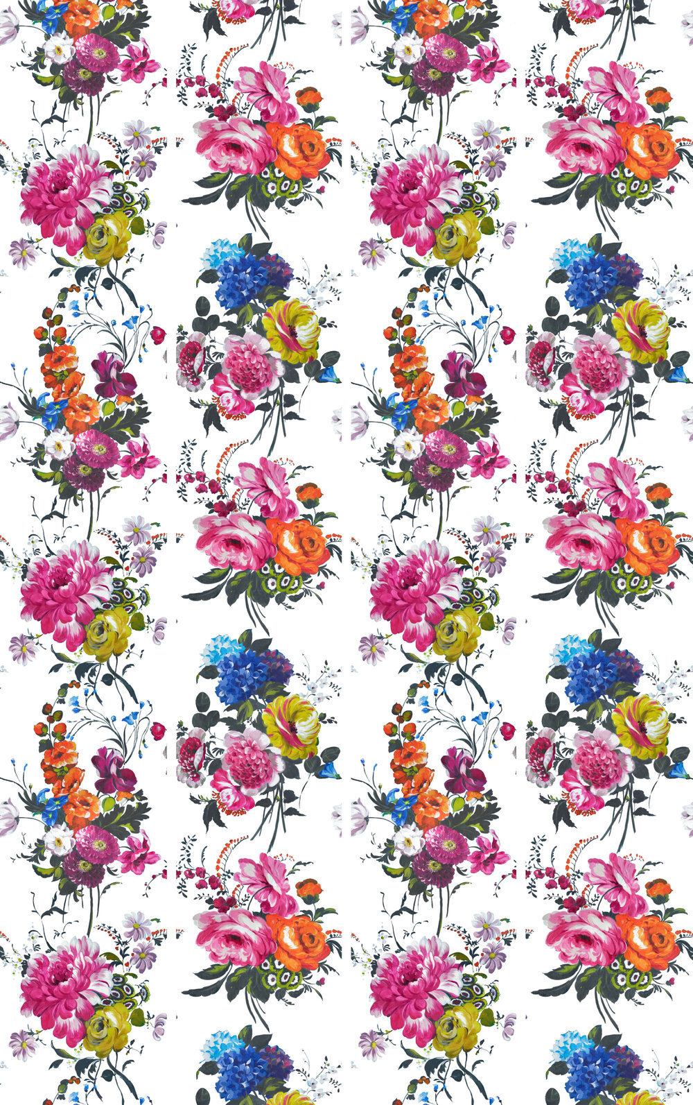 Amrapali panels Mural - Peony - by Designers Guild