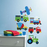 Creative Wall Art Planes & Trains Stickers
