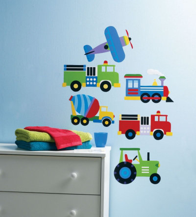 Image of Creative Wall Art Stickers Planes & Trains Stickers, 13361