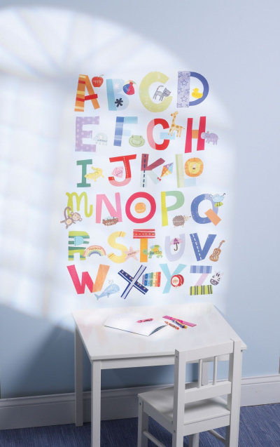 Image of Creative Wall Art Stickers Alphabet Fun Stickers, 13527