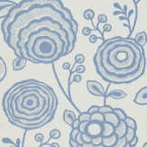Harlequin Beatrice Blue / Off White Wallpaper