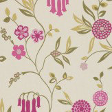 Harlequin Ophelia Raspberry / Green Wallpaper