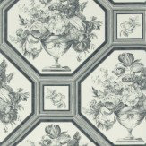 The Royal Collection Wyatt Grey / Off White Wallpaper