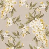 Clarke & Clarke Wisteria  Gold Wallpaper