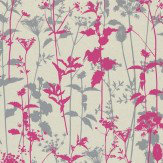 Clarissa Hulse Nettles Pink / Grey Wallpaper