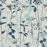 Clarissa Hulse Nettles Navy / Duck Egg Wallpaper - Product code: 110172