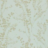 Clarissa Hulse Salvia Metallic Gold / Pale Blue Wallpaper - Product code: 110161