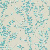 Clarissa Hulse Salvia Aqua / Off White Wallpaper - Product code: 110195