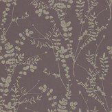Clarissa Hulse Salvia Metallic Gold / Rich Brown Wallpaper - Product code: 110157