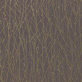 Clarissa Hulse Grasses Metallic Gold / Deep Purple Wallpaper - Product code: 110156