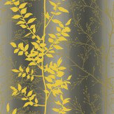Clarissa Hulse Persephone Lime / Gold / Grey Wallpaper