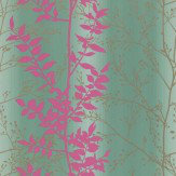 Clarissa Hulse Persephone Pink / Gold / Duck Egg Wallpaper - Product code: 110182