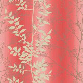 Clarissa Hulse Persephone Cream / Silver / Coral Wallpaper