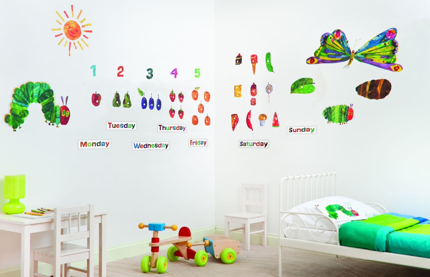 Very Hungry Caterpillar Wall Stickers The Very Hungry Caterpillar By Funtosee Wallpaper Direct