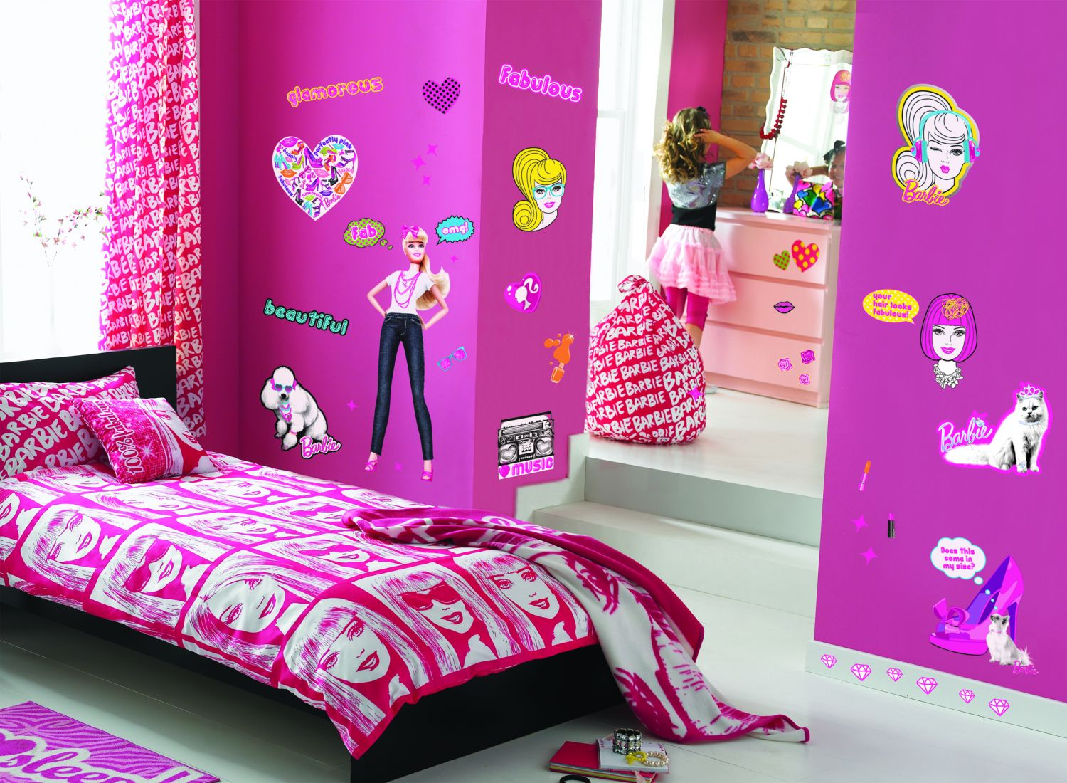 Cartoons videos barbie princess bedroom set decoration - Habitaciones para ninas ...