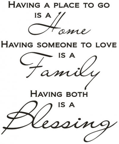 Image of Wall Word Designs Stickers A Blessing - black, 1087-2