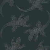 Osborne & Little Komodo Silver / Black Wallpaper